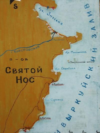 Карта маршрута от Монахово до Змеиной бухты
