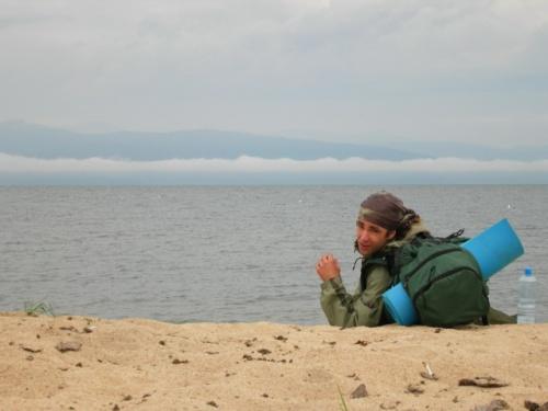 А это Серж, который тоже добрался до Байкала