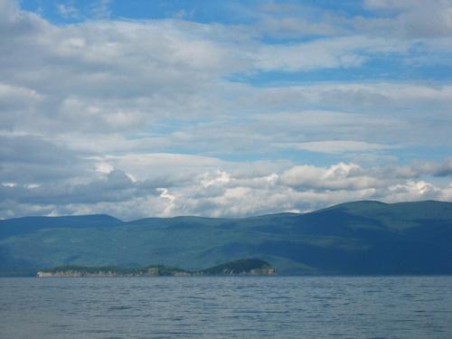 Бакланий остров. Вид из Катуни. Байкал