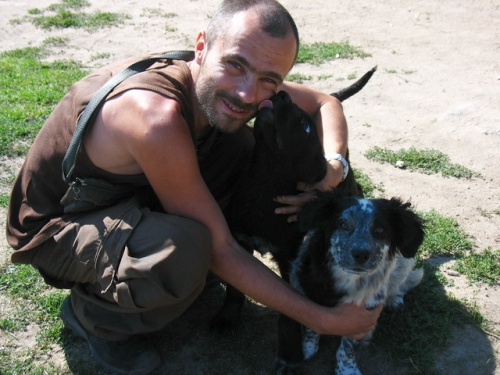Зато в Курбулике сторожевые собаки из рук вон ласковые.