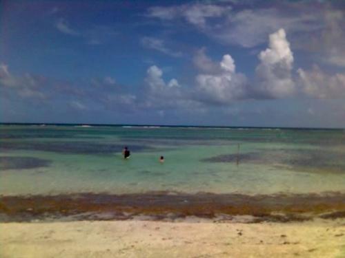 Здесь идет част карибского коралового рыфа-очень много жизнь, очень приятно смотрет под водой.