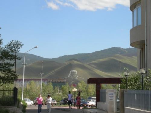 Чингисхан на горе. Улан-Батор.