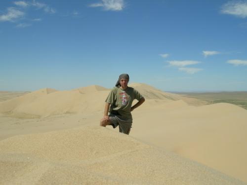 На дюне. Высота 280. Пески Хонгор Элс.