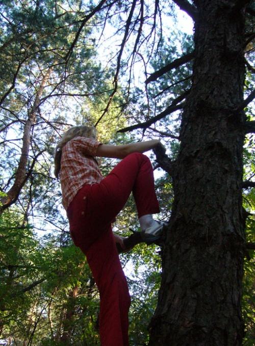альпинистка моя, древолазка моя ;о)))