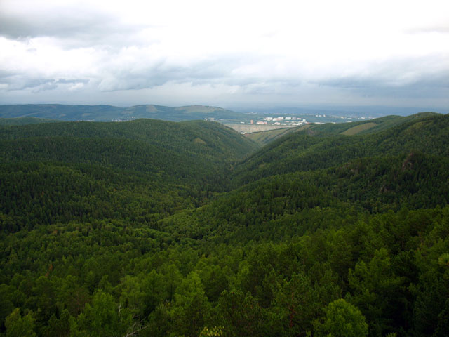 Красноярск и зеленое море
