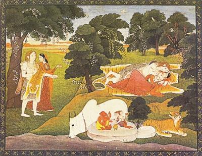 Святое семейство. 1800 г., Кангра, Пахари.
