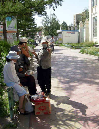 Улан-батор. Люди-таксофоны
