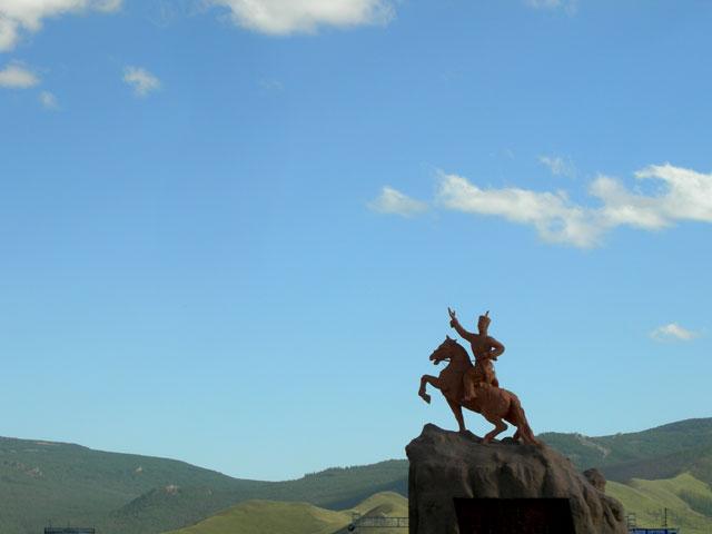 """Улан-батор. Памятник монгольскому """"герою революции"""""""