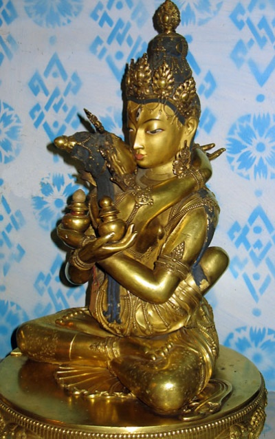 Ситасамвара, тантрическое божество. 17 век. Скульптор - Занабазар.