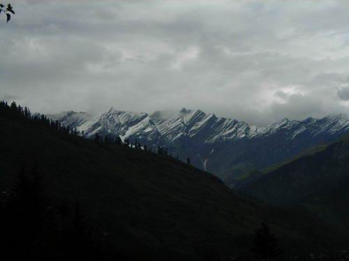вид на горы из Манали