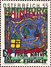 Хундертвассер создавал еще и рисунки для почтовых марок