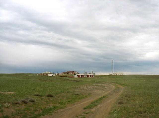 Монголия. Поселок
