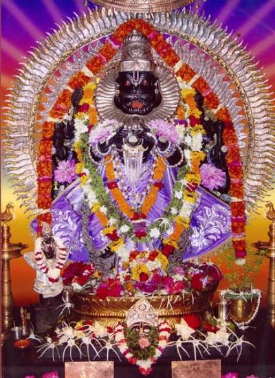 Угра Нрисимха в Маяпуре. Открытка