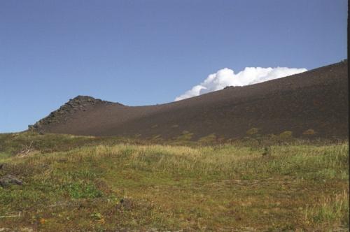 Шлаковые поля плечи вулкана