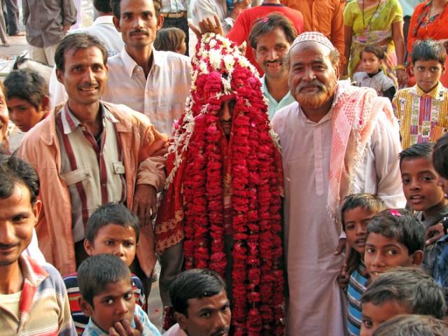 Свадьба в Джама-Маджит в Фатхепур Сикри недалеко от Агры