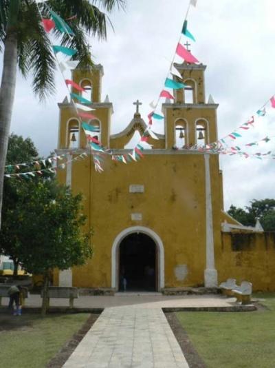 У каждая деревня есть как правило церковь-инагда есть и несколько