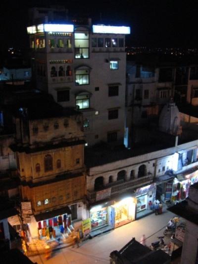 вид с ресторана на крыше