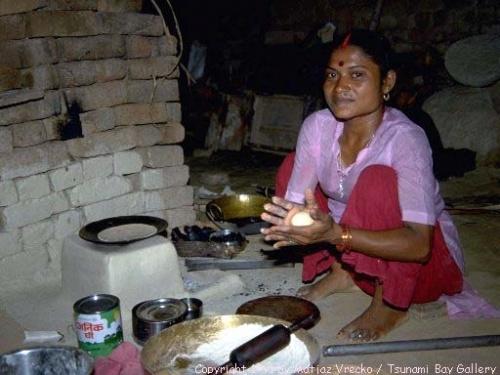 Чапати в Южной Индии