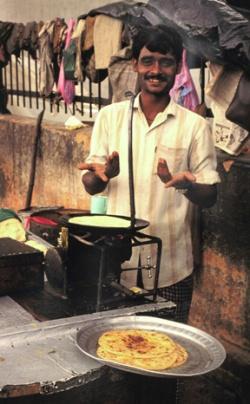 Чапати в Дели