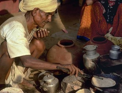 Чапати в Раджастане