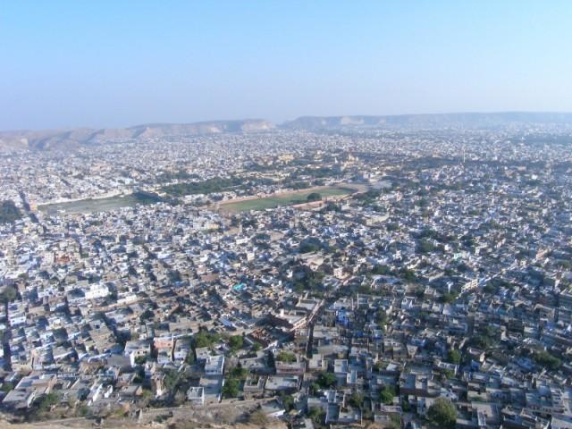Джайпур. Вид с Тайгер форт.