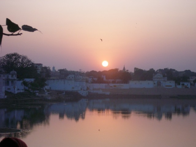 Закат над священным озером.