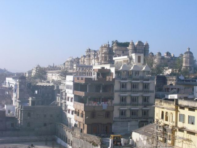 Вид с крыши отеля.