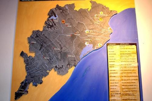 Карта штата Орисса