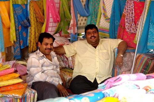Продавцы тканей (Дели)