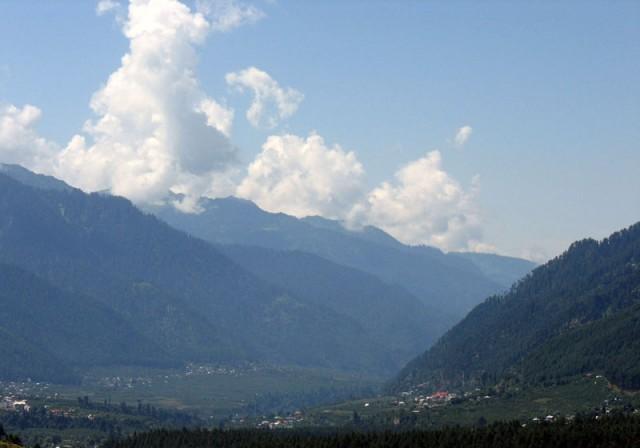 Долина Куллу, вид на юг
