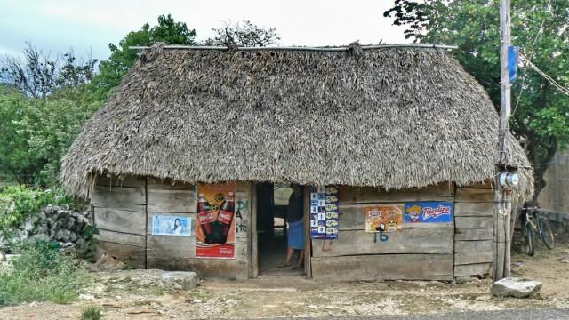 Маленькие магазинчики по несколько в каждая деревня.