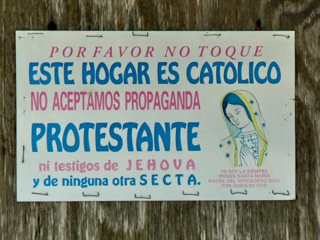 И здесь тоже-не хотять протестанты и подобные.