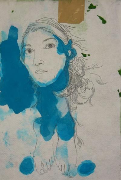 """Этот автопортрет чем-то напоминает ботичеллиевское """"Рождение Венеры"""". Из серии автопортретов Селин"""