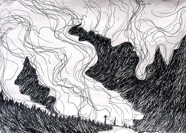 Горы и облака. 2 состояние