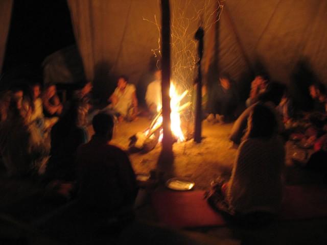 Еврейский Новый Год в Индии в индейском типи :))))