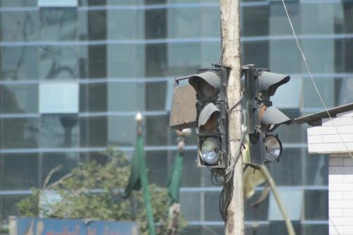 Разбитый светофор