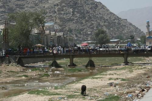 Речка Кабул. Центр города