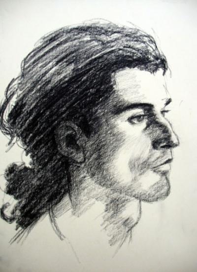Портрет Жерома, уголь