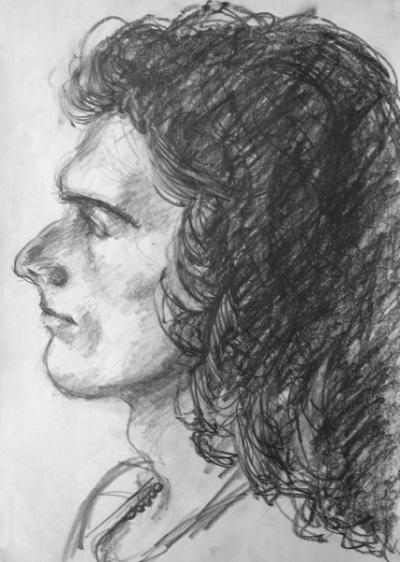 Портрет Жерома, графит
