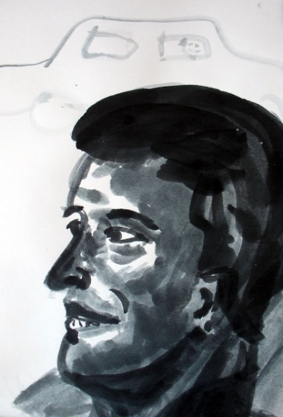 Ален Делон (из серии про трех персонажей)
