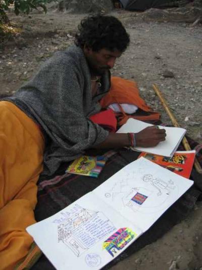 рисующий Раджубаба