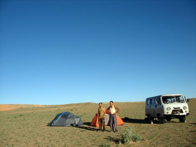 Наш лагерь в Баянзаге