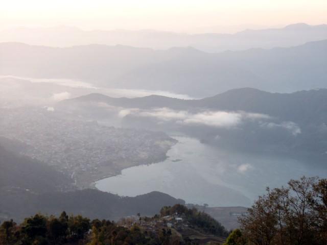 Покхара внизу