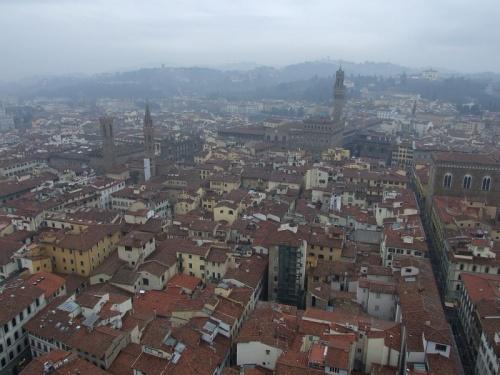 Вид с башни на город
