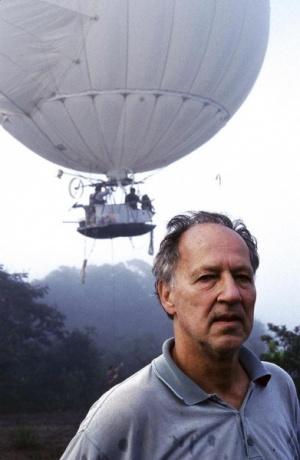 Вернер Херцог во время съемок фильма