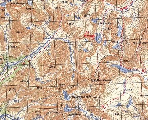 карта начала маршрута