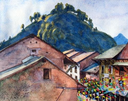 Бандипур, 2007  год, (акварель)