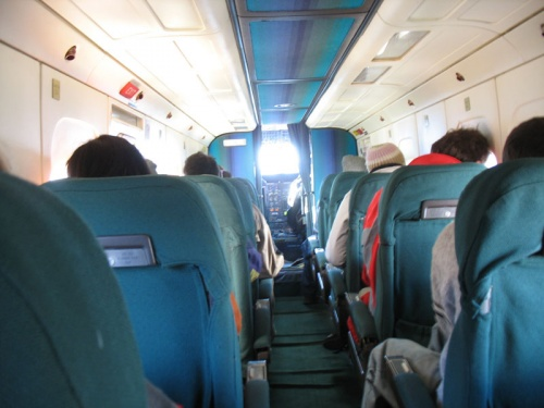 В салоне аэроплана
