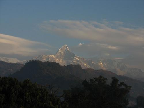 Вид из нашего окна в Покхаре