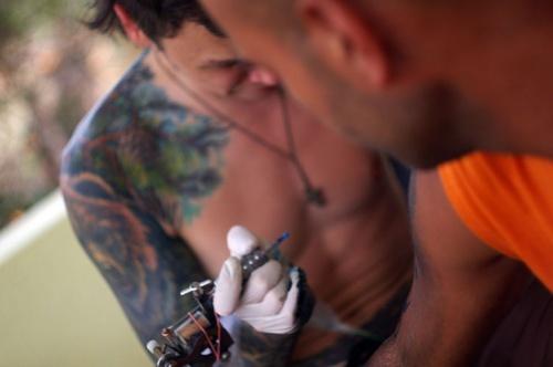 Татуировки на нашем балконе